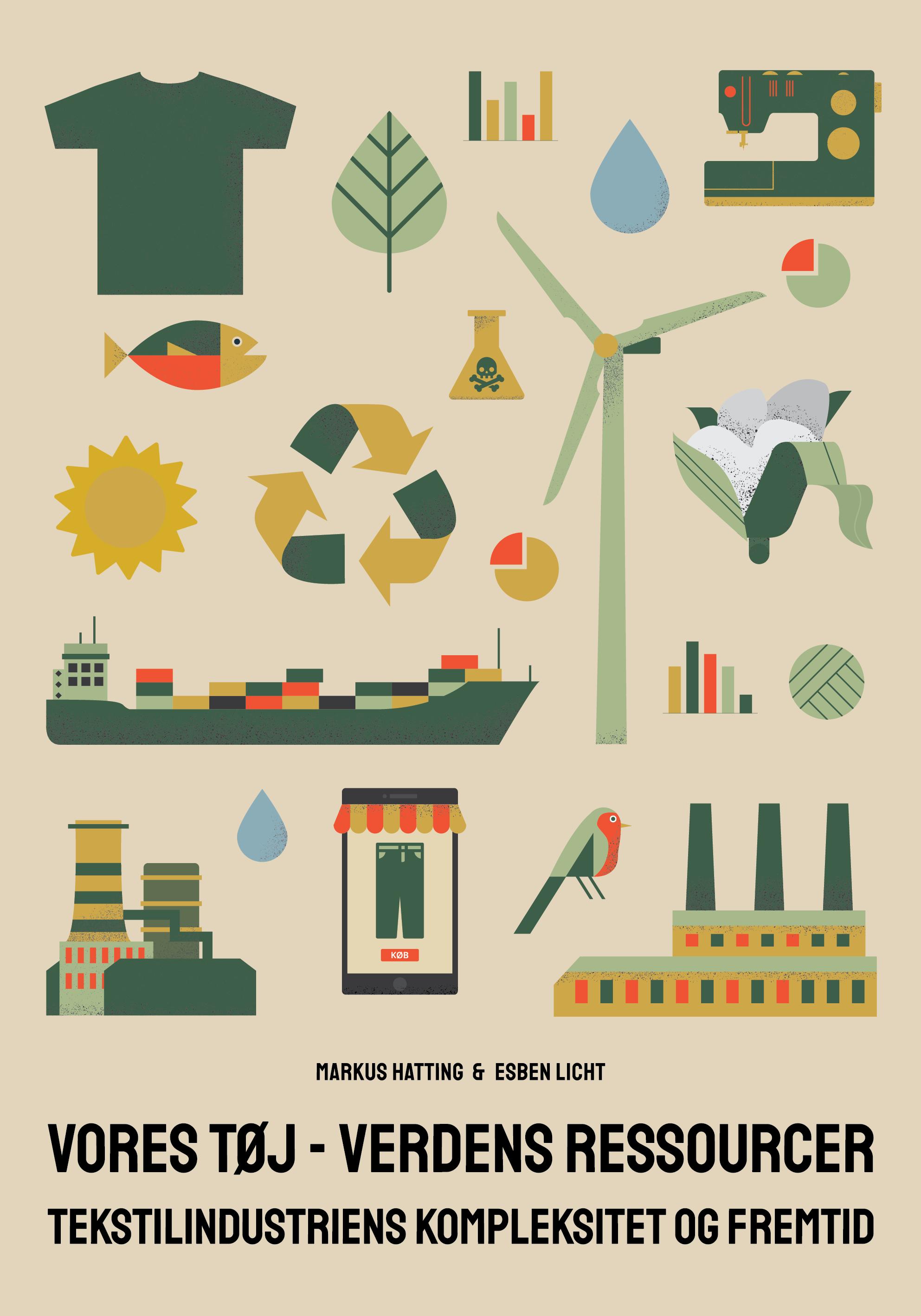 Plakat Vores Tøj - Verdens Ressourcer - Tekstilrevolutionen